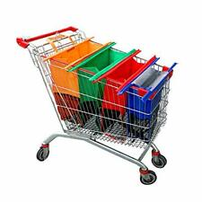 Haiphisi Trolley Bags-4 Pack Reusable Grocery Shopping cart Bags with Cooler ...