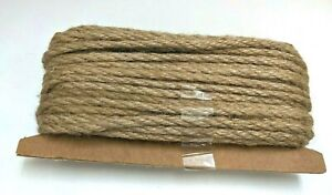 65 feet Natural Jute Rope 5mm Thick Strong Burlap Twine Hemp Rope Cord For Arts