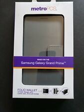 Folio Wallet Card Stand Case Cover Samsung Galaxy Grand Prime Charcoal