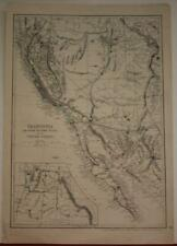 CALIFORNIA UNITED STATES 1868 CASSELL PETTER & GALPIN ANTIQUE LITHOGRAPHIC MAP