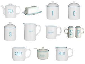 Homestead Dolomite Kitchen Accessories Kitchen Storage Jars Mug Milk Jug Teapot