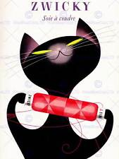VINTAGE BLACK CAT ADVERT NEW FINE ART PRINT POSTER CC4928