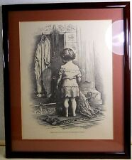 """Thomas Nast """"Santa Claus Can't Say That I've Forgotten Anything"""" Print - Framed"""