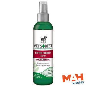 Vet's Best Bitter Cherry Spray Anti Chew Deterrent Stop Bandage Licking Natural