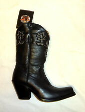 Star Boots W6010 Size 9B Womens Manchester Western Cowgirl Leather Boots BLACK