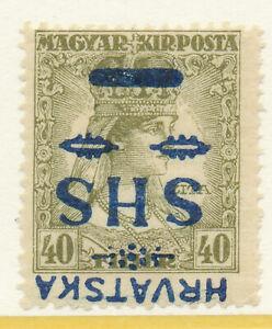Yugoslavia CROATIA SLAVONIA-1918 SC # 2L27 INVERTED OVPT,-MLH