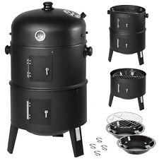 3en1 BBQ Parrilla de carbón vegetal Barbacoa Ahumador Bidón ahumador Parrilla