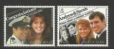 Isle of Man 1986 Royal Wedding/Prince Andrew-Attractive Topical (314-15) Mnh