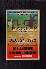 The Eagles 1972 tour poster Los Angeles Stevie Wonder
