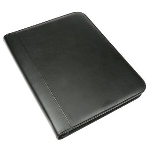 Document Organizer Folder File Holder A4 Zipped Case Office Letter Faux Leather