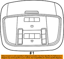 Jeep CHRYSLER OEM 14-15 Grand Cherokee-Overhead Roof Console 1VS301X9AD
