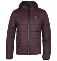 LUKE 1977 Southy Shiraz Jacket with Hood Plump Purple Quilted Heavyweight Padded