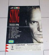 Manifesto STING Tour 1996 Firenze POSTER Affiche Italy PROMO Concerto