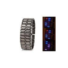 Orologio digitale a Led - resistente all'acqua cinturino in acciaio inossidabile