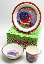 1994 Mary Engelbreit Babys First Christmas Melamine Cup, Plate, & Bowl Set Mint