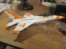 VINTAGE F-16 Airplane Die Cast Tennessee Volunteer Thunder Fighter Jet Mint