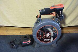Ridgid SeeSnake MicroReel Model L100 35133 & CA 350 Color 80' 512Hz Counter