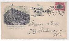 1901 Marinette Wisconsin, Advertising, Hotel Marinette, Building 2c Pan American
