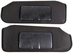 1993-2002 Camaro Firebird Sun Visors Shades Ebony Black Cloth NEW *SV278-1559