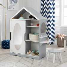 Kidkraft Dress Up Armoire and Vanity Unit | Kids Dressing Table Stool Mirror