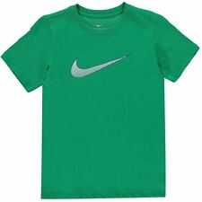 NEW 2020  Boys  Nike Just Do It Ultra Swoosh T Shirt Cotton Top Age 7-13 GREEN