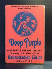 DEEP PURPLE MONTREUX 1969 CONCERT POSTER VINTAGE STYLE METAL SIGN  30X40 CM