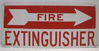 Old Fire Extinguisher Metal Sign right arrow gas station industrial safety adv