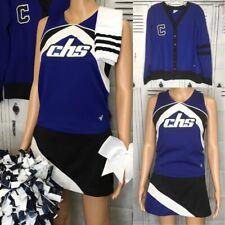 "Cheerleading Uniform High School 6pc Set Adult Top 34"" Chest Skirt 28"" Waist"