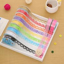 2x Roll DIY Washi Paper Lace Decorative Sticky Paper Masking Tape SELF Adhesive
