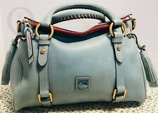 *Dooney & Bourke*Dusty *Small Blue*Florentine Leather*Satchel*19050E S103