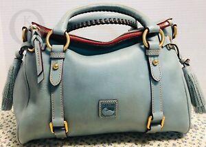 *Dooney & Bourke*Dusty *Small Blue*Florentine Leather*Satchel*19050E S103