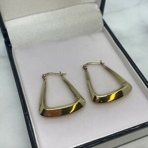 9ct yellow gold Handbag shaped creole earrings weight 1.94 grams value £110