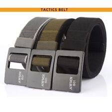 Adjustable Alloy Buckle Stretch Belt Nylon Rigger Waistband Belt Clip Buckle US