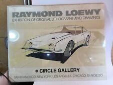 Vintage Raymond Loewy Circle Gallery Avanti Car Poster