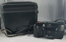 Minolta Freedom 200 Camera 35mm Automatic Camera & Blk Genuine Cowhide Lthr Bag