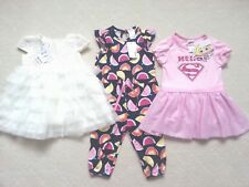 """BNWT!! SZ 0->GIRL""""S SUMMER OUTFITS x3-> DRESSES + OVERALL"""
