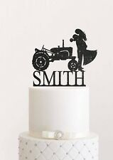 Tractor Wedding Cake Topper Farmer Cake Topper Country Bride and Groom