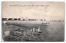 1907 Annual Cruise, New York Yacht Club, New London Harbor, CT Postcard