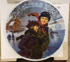 "Nib! Norman Rockwell Plate ""Christmas '82"" Original, Never Used!"