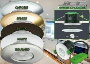 JCC V50 FIRE-RATED IP65 LED DOWNLIGHT 7W WHITE BRASS CHROME BRUSHED BLACK WHITE