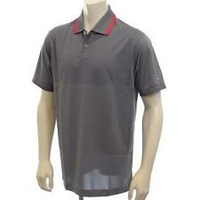NEW Nike Golf Innovation DF Knit Cool Polo Shirt 585840 Gray Red Size XL