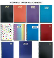 2020 A4 A5 Diary Day A page Week to View HardBack PVC Diary Yealry Desk Office