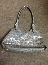 Charlie Lapson Hand Bag Purse Blue Grey Gray