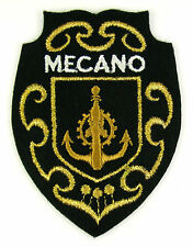 Ecusson brodé militaire ♦ (patch/crest embroidered) ♦ MECANO MARINE NATIONALE