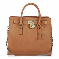 Michael Kors Brown Luggage Leather Hamilton Large Tote Bag Purse
