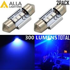 Alla Lighting DE3175 LED Interior Dome Map Trunk License Plate Light Bulbs, Blue