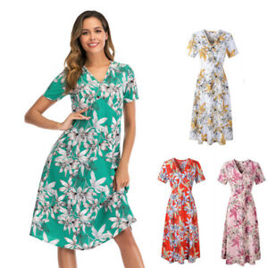 Sexy Women Dresses for Womens Floral Ladies Dress Beach Casual Plus Size