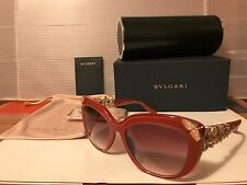 NEW BVLGARI Swarovsky Sunglasses - BV8162B 53808H Raspberry / Violet Gradient