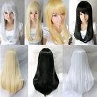 Women Heat Resistant Hair Long Straight Fashion Cosplay Full Wig Wigs 60cm/80cm