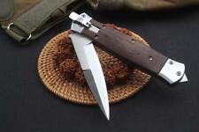 Folding Pocket Knife Wood Handle Godfather Tactical Knives Outdoor Survival NS31